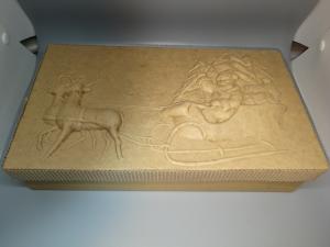 SCATOLA CARTONE RETTANGOLARE SLITTA - 23 X 14 cm - ALTEZZA 6 cm