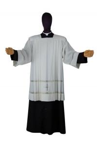 Cotta Liturgica Sacerdotale Sfilata e Ricamata a Mano MA11BE