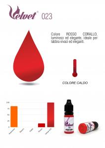 VELVET 023 - Colore per trucco semipermanente (PMU) - Consigliato per LABBRA | 10 ML