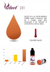 VELVET 241 - Colore per trucco semipermanente (PMU) - Consigliato per CORREZIONI   10 ML