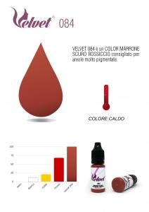 VELVET 084 - Colore per trucco semipermanente (PMU) - Consigliato per PARAMEDICALE | 10 ML