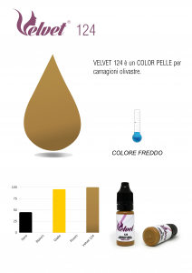 VELVET 124 - Colore per trucco semipermanente (PMU) - Consigliato per PARAMEDICALE | 10 ML