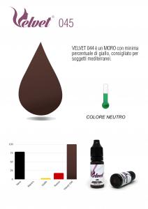 VELVET 045 - Colore per trucco semipermanente (PMU) - Consigliato per SOPRACCIGLIA | 10 ML