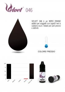 VELVET 046 - Colore per trucco semipermanente (PMU) - Consigliato per SOPRACCIGLIA | 10 ML