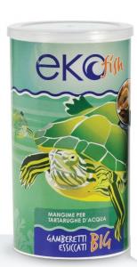 Alimento completo per tartarughe acquatiche ekofish (gamberetti grandi) gr.140