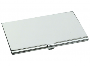 Portabiglietti da visita placcato argento cm.6x9,7x2h
