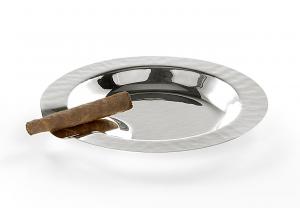 Posacenere tondo placcato argento cm.1,5h diam.16