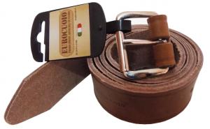 Cintura in cuoio marrone spessore alto cm 40x1100x1350
