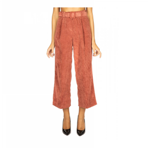 PANTALONE CROPPED VELLUTO RIGHE