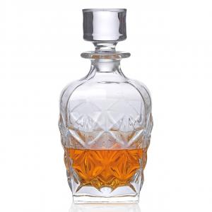 Bottiglia Whisky Enigma con Tappo cm.11x11x17h