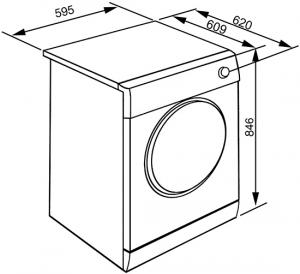 Smeg DHT73LIT asciugatrice Libera installazione Caricamento frontale Bianco 7 kg A+++