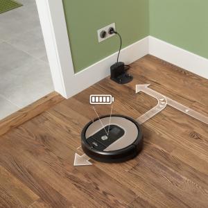 iRobot Roomba 966 aspirapolvere robot Senza sacchetto Nero, Argento 0,6 L