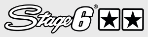 L-SASTAGE6/WH ADESIVO STAGE6 DUE STELLE BIANCO E NERO