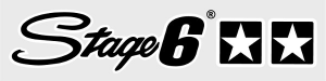 L-SASTAGE6/BK ADESIVO STAGE6 DUE STELLE NERO E BIANCO