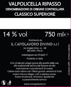 Valpolicella Ripasso Classico Superiore DOC
