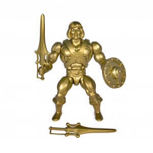 Masters of the Universe (Vintage Collection): GOLD STATUE HE-MAN by Super7