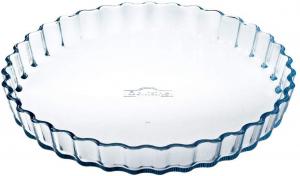 Pirofila tonda in vetro per crostata Ocuisine cm.3,5h diam.27