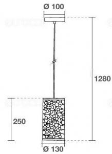 LAMPADARIO A SOSPENSIONE IN METALLO MOD. TUBE  VT-7131