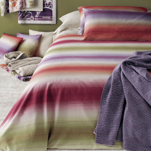 Quilted double bedspread 2 squares Missoni Home PARSIFAL