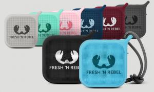 Fresh 'n Rebel Rockbox Pebble 1RB0500BL - Altoparlante portatile Bluetooth splashproof, nero