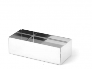 Porta bustine per zucchero e te in acciaio inox cm.13x6