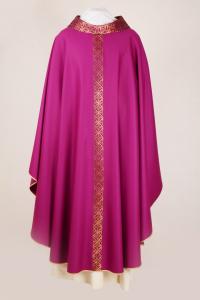 Casula viola morello con stolone in seta