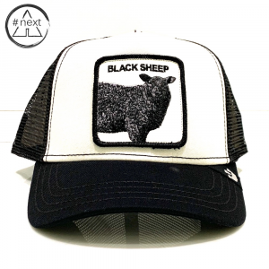 Goorin Bros - Animal Farm Truckers - Black Sheep - Bianco nero