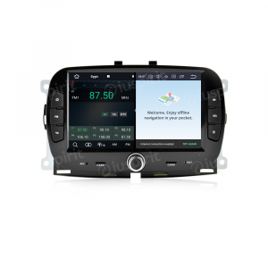ANDROID 10 autoradio navigatore per Fiat 500 2016 2017 2018 2019 GPS SD WI-FI Bluetooth MirrorLink