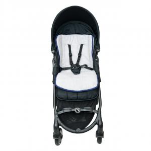 Babysanity Materassino the lux universale grandi dimensioni per passeggino in spugna di cotone bordato in Blu related image