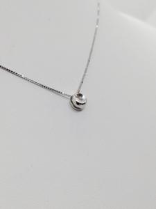 Puntoluce Collana Girocollo Oro bianco 18 kt con diamante taglio Brillante ct. 0,01