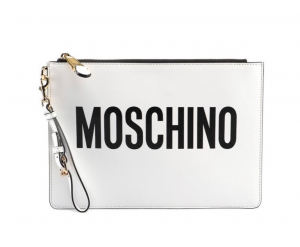 Cluthc Moschino bianca con LOGO