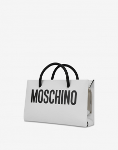 Evening bag con stampa logo MOSCHINO