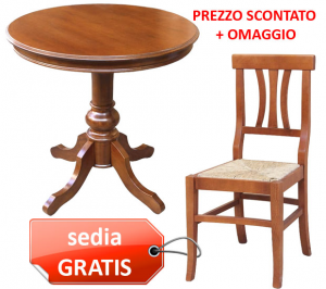 OFFERTA COMBO! Tavolino rotondo + sedia GRATIS