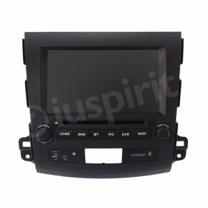 Autoradio navigatore per Mitsubishi Outlander Citroen C-Cross Peugeot 4007 2006-1012 GPS DVD USB SD Bluetooth