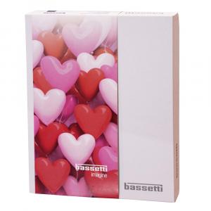 Set copripiumino matrimoniale misura IKEA LOVE PARTY BASSETTI 240x220