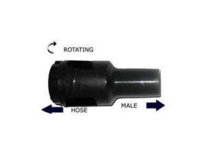 Manicotto girevole Maschio ABS Ø 50 per aspirapolvere e aspiraliquidi - Cod: SYN104611020