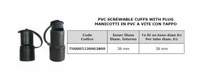 Manicotto in PVC a vite con tappo Ø 38 per lavapavimenti - Cod: TU0005330003800