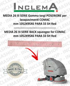 TRIPLA 65 Gomma tergi (tergi da 1015mm) POSTERIORE per lavapavimenti COMAC