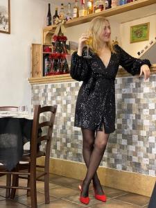 Mini abito paillettes kimono Vicolo Taglia M