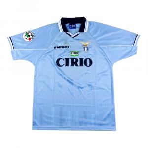 1997-98 Lazio Maglia Home Match Worn #6 Chamot C.O.A XL