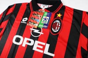 1995-96 Ac Milan Maglia Home L *Nuova