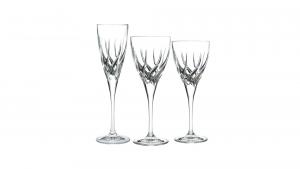 Set calici in vetro composto da 6 calici vino rosso, 6 calici vino bianco e 6 calici flute Trix Rcr
