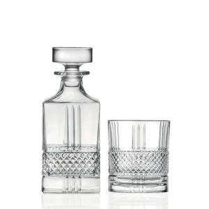Set whisky composto da 1 bottiglia liquore e 6 bicchieri