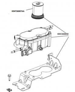 Filtro carburante con separatore acqua completo Jeep CHEROKEE dal 2011, ORIGINALE