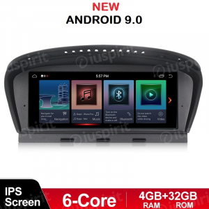 ANDROID 9.0 navigatore per BMW Serie 3 E90 E91 E92 BMW Serie 5 E60 E63 E64 Sistema originale CCC WI-FI GPS Bluetooth MirrorLink