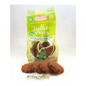 Frollino al cioccolato fondente senza glutine e vegano