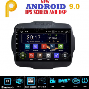 ANDROID 9.0 autoradio navigatore per Jeep Renegade 2014-2018 GPS WI-FI Bluetooth MirrorLink