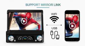 ANDROID autoradio 1 DIN navigatore universale 7 pollici GPS DVD WI-FI Bluetooth MirrorLink monitor estraibile