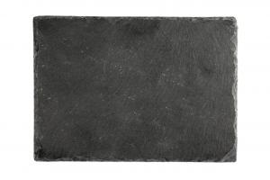 Vassoio piatto rettangolare in Ardesia naturale cm.23x14x1h