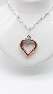 Collana Donna cuore in argento, vendita online | GIOIELLERIA BRUNI Imperia